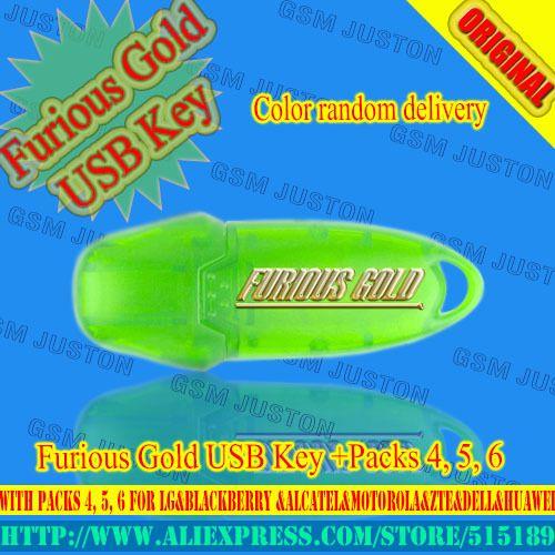 Gsmjustoncct Furious Gold USB Key Aktiviert mit Packs 4, 5, 6 Für LG & BlackBerry & Alcatel & Motorola & ZTE & Dell & Huawei