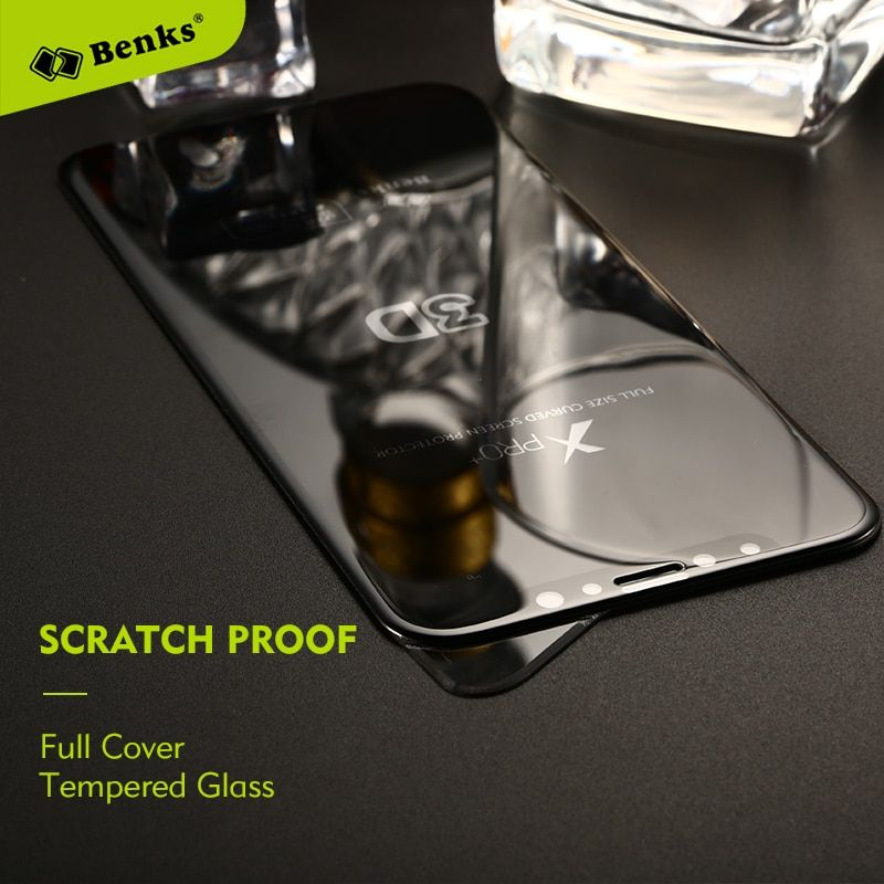 Benks Glass For iPhone X Tempered Glass Screen Protector Scratch Proof 3D Curved Protective Glass For iPhoneX 8 7 Plus Film