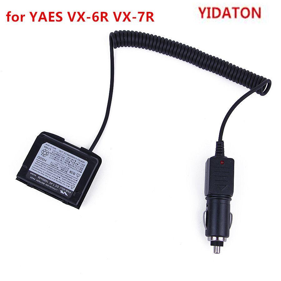 YIDATON pour YAESU VX-7R 12 V voiture chargeur de batterie éliminateur adaptateur talkie-walkie VX-6R avec anneau étanche éliminateur de batterie