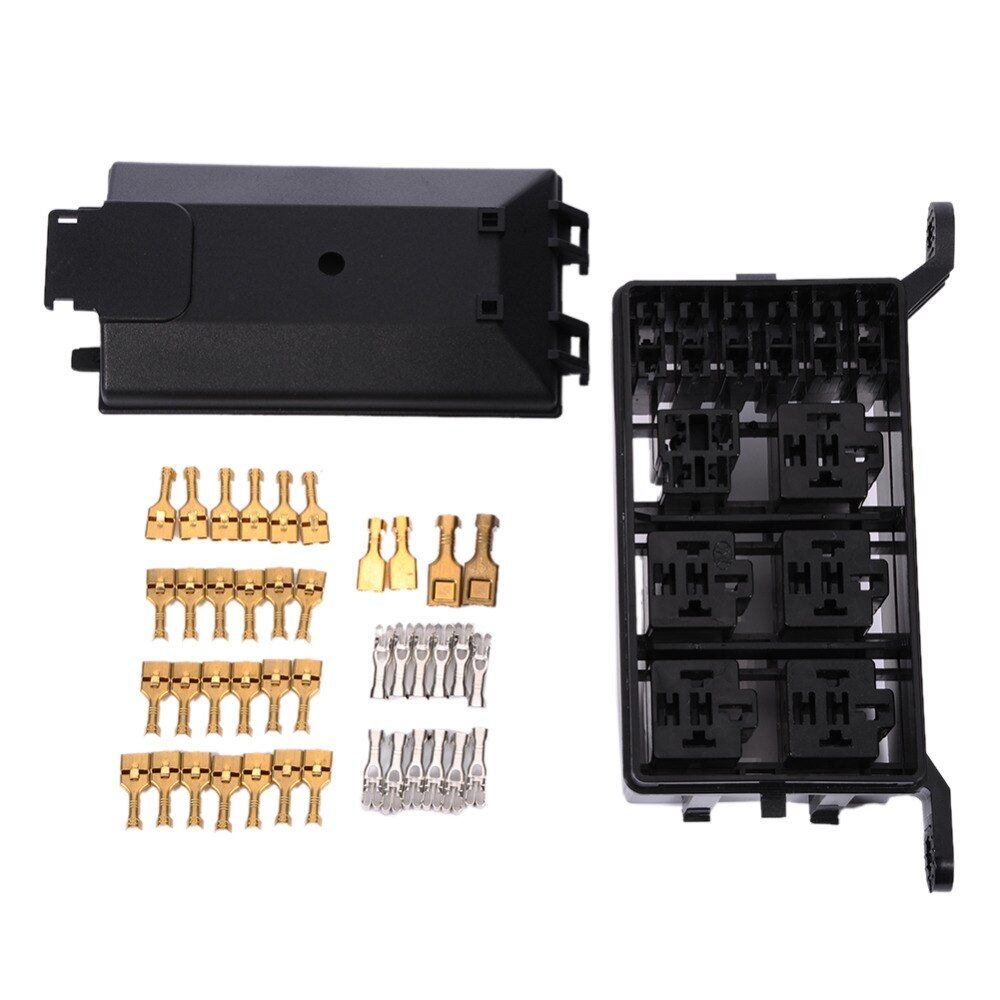 Auto Fuse Box 6 Relay Holder 5 Road The Nacelle Insurance Car Insurance Fuse Holder Box For Car Vehicle Circuit Blade