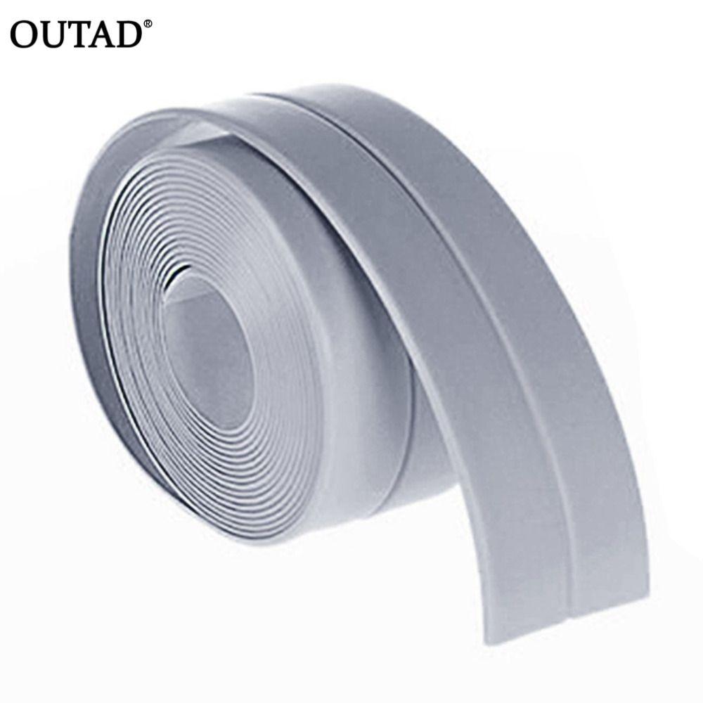OUTAD 38mm * 3,2 mt DIY selbstklebende Wasserdichte Weiß Mildewproof Abdichtung Dichtmittel Streifen Band für Badezimmer Küche