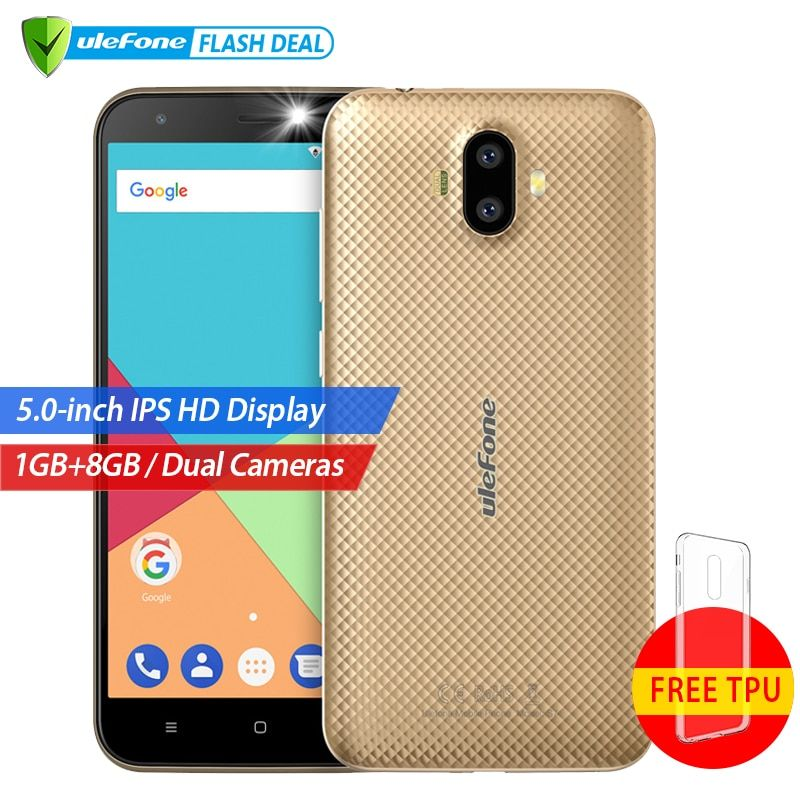 Ulefone S7 1GB+8GB Smartphone 5.0 inch IPS HD Display Android 7.0 Dual Camera 3G mobile phone