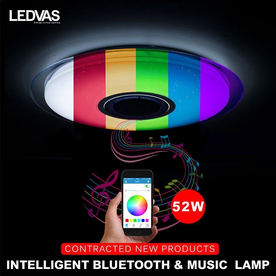LEDVAS LED ceiling Light with RGB Dimmable 52W APP control Bluetooth & Music modern Led ceiling lights living room/bedroom 220v