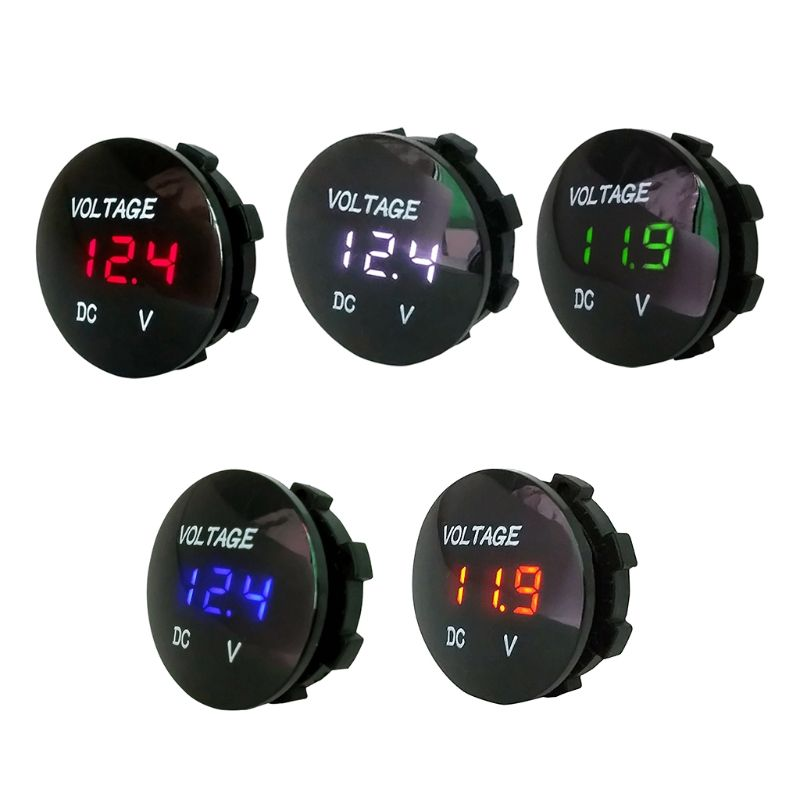 Car Motorcycle DC5V-48V LED Panel Digital Voltage Meter Display Voltmeter Type2