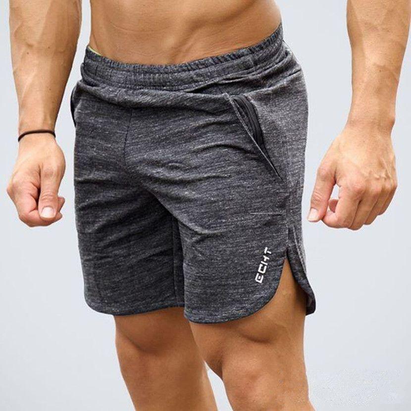 2017 New Brand High Quality Cotton Men shorts Bodybuilding Fitness Gasp basketballRunning workout jogger shorts golds