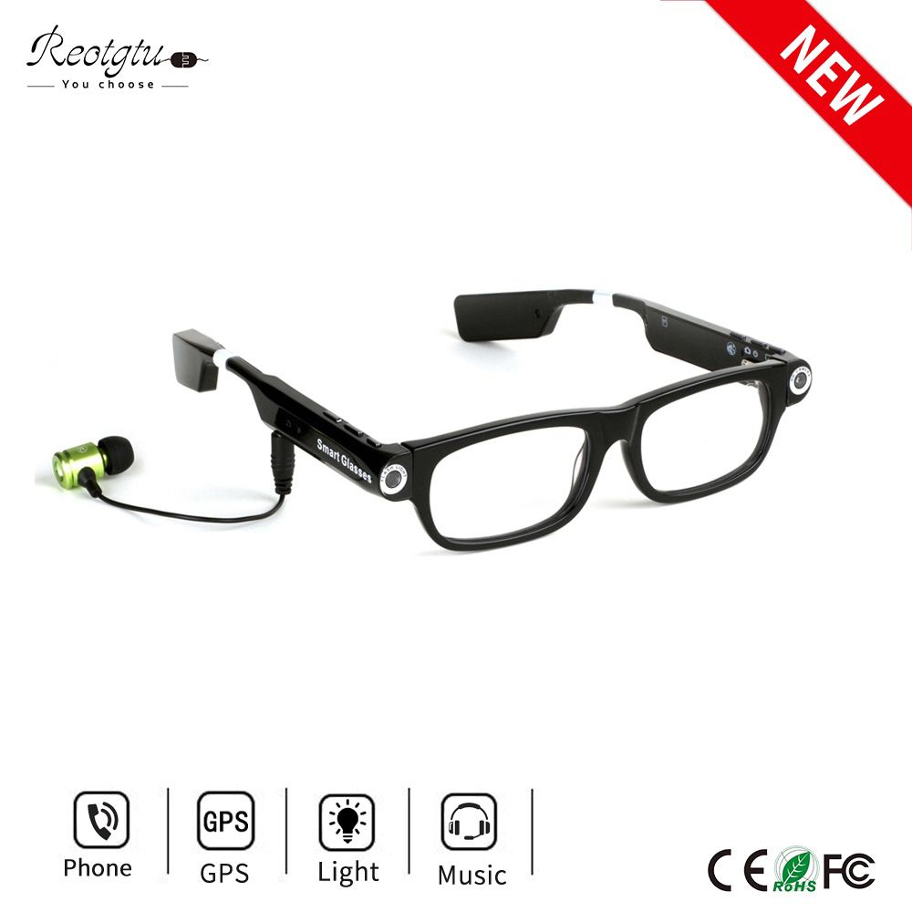 Wireless Bluetooth Camera Glasses HD 720P Sports DV Smart Sunglasses Mini Camcorders Glasses With Headset To Calls And Music
