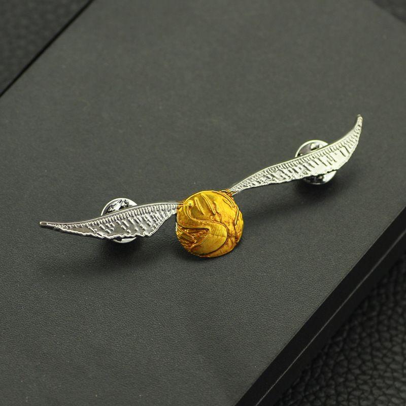 Harri Potter TOD ESSER Goldenen Schnatz Symbol Metall Abzeichen Brosche Pin Brust Taste Ornament Cosplay Sammlung Otaku Geschenk Kühlen