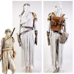 Star Wars Kostüm Star Wars 7: Die Kraft Weckt Rey Cosplay Kostüme Für Erwachsene Frauen Halloween-kostüme