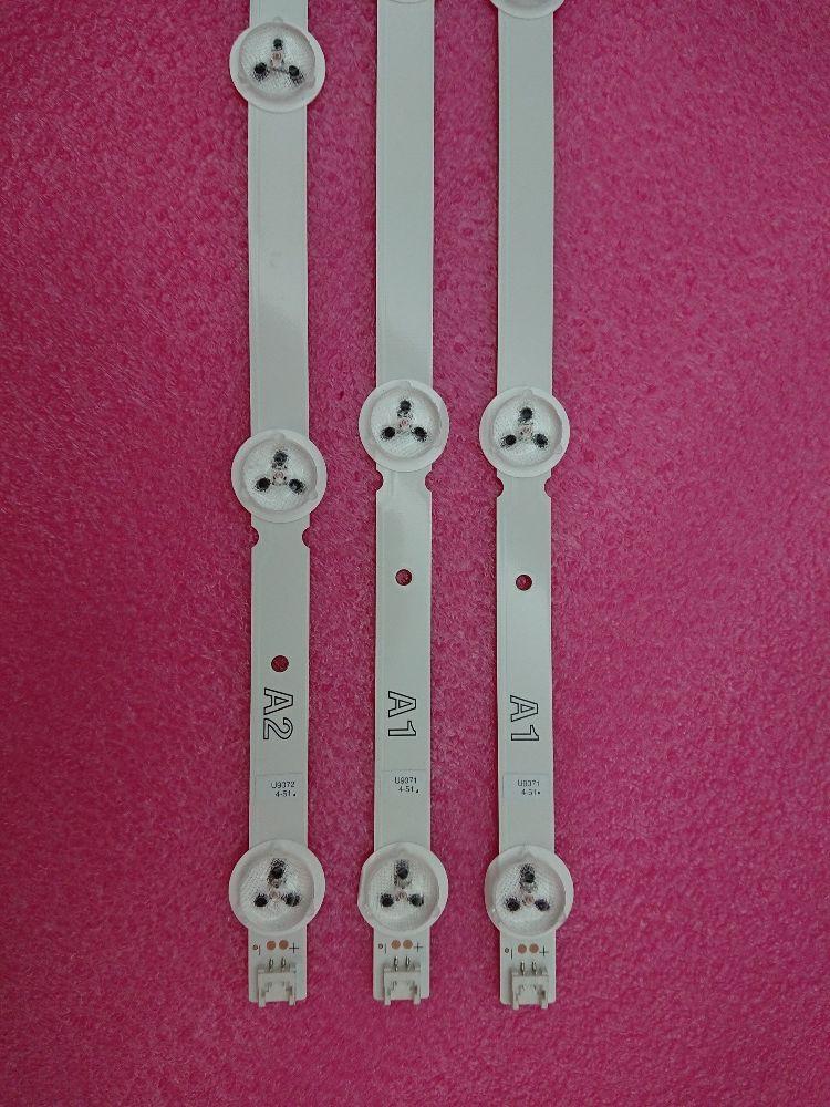 (Nouveau kit) 3 pièces (2 * A1 * 7 LED s 1 * A2 * 8 LED s) 630mm LED bande de rétro-éclairage pour TX-L32B6B 6916L-1295A 6916L-1296A 1105A 1106A