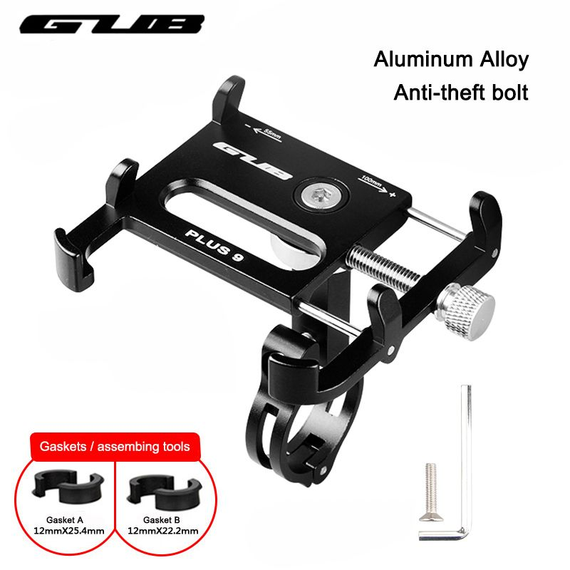 GUB Metal CNC Bike Bicycle Universal Cell Phone Holder Motorcycle <font><b>Handlebar</b></font> Mount Handle Phone Support For 3.5-6.2 iPhone GPS