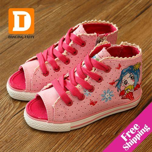 Nouveau 2019 été filles chaussures Peep orteils sandales décontracté sport enfants chaussures toile enfants chaussures pour fille baskets