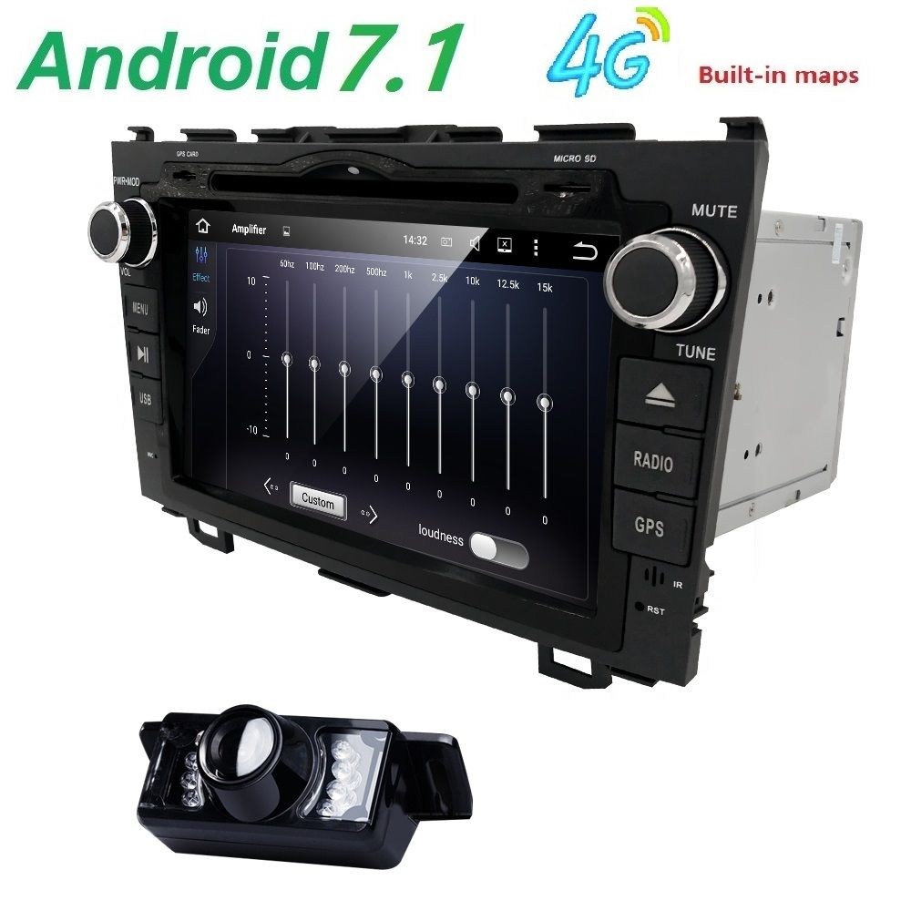 HD Quad Core A9 1.6GHz 1024X600 Android 7.1 Car DVD Player For Honda CRV CR-V 2006-2011 4G WiFi GPS Navigation Stereo Video SD