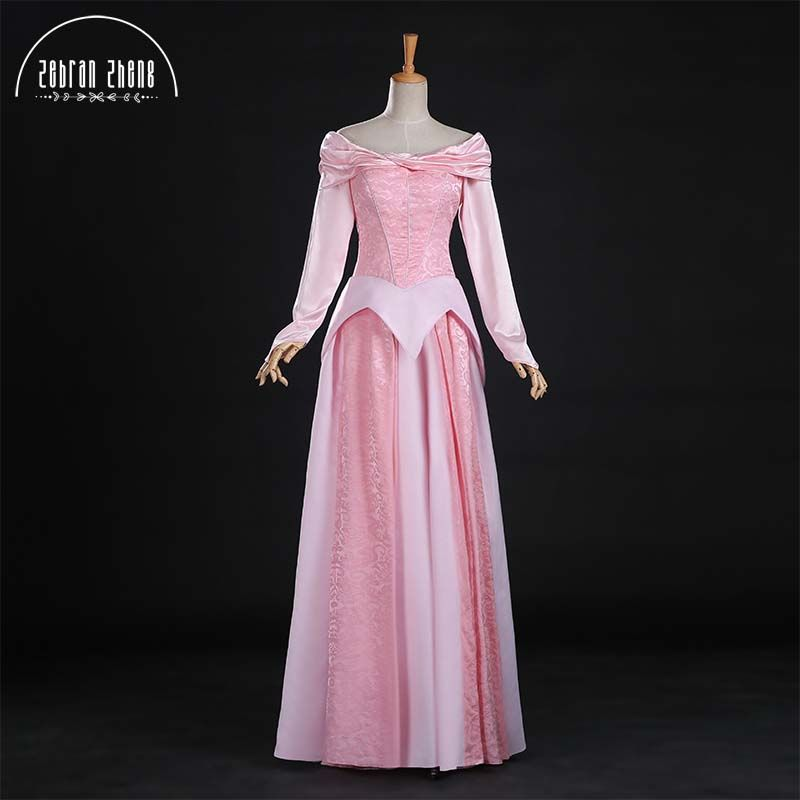 Top Quality Sleeping Beauty Princess Aurora Cosplay Costume Dress For Adult Women Dress Custom-Made Free Shipping