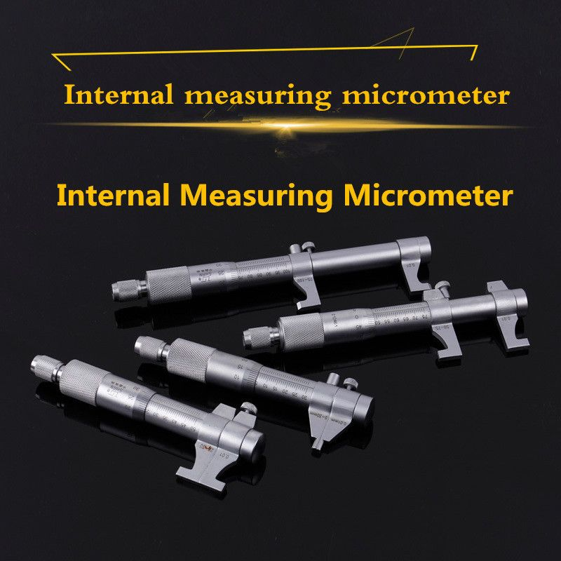 Inside Micrometer 0.01mm Metric Carbide Ratchet Screw Gauge Professional Measuring Tool 5-30mm 25-50-75-100-125-150-175-200mm