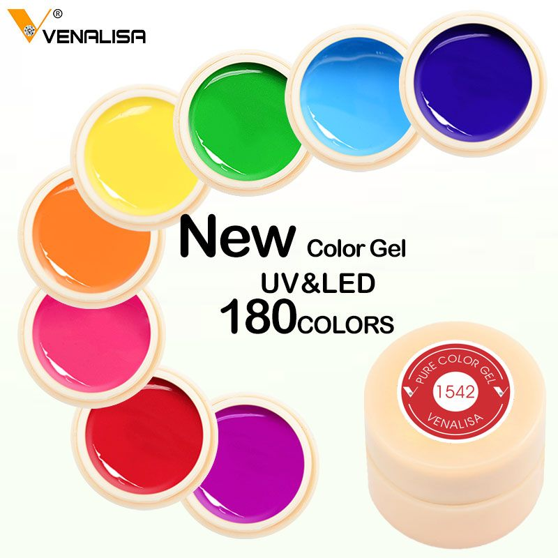 #50638 Venalisa High quality led painting gel soak off 180 colors gel lacquer 5ml manicure color Painting gel Lacquer Varnish