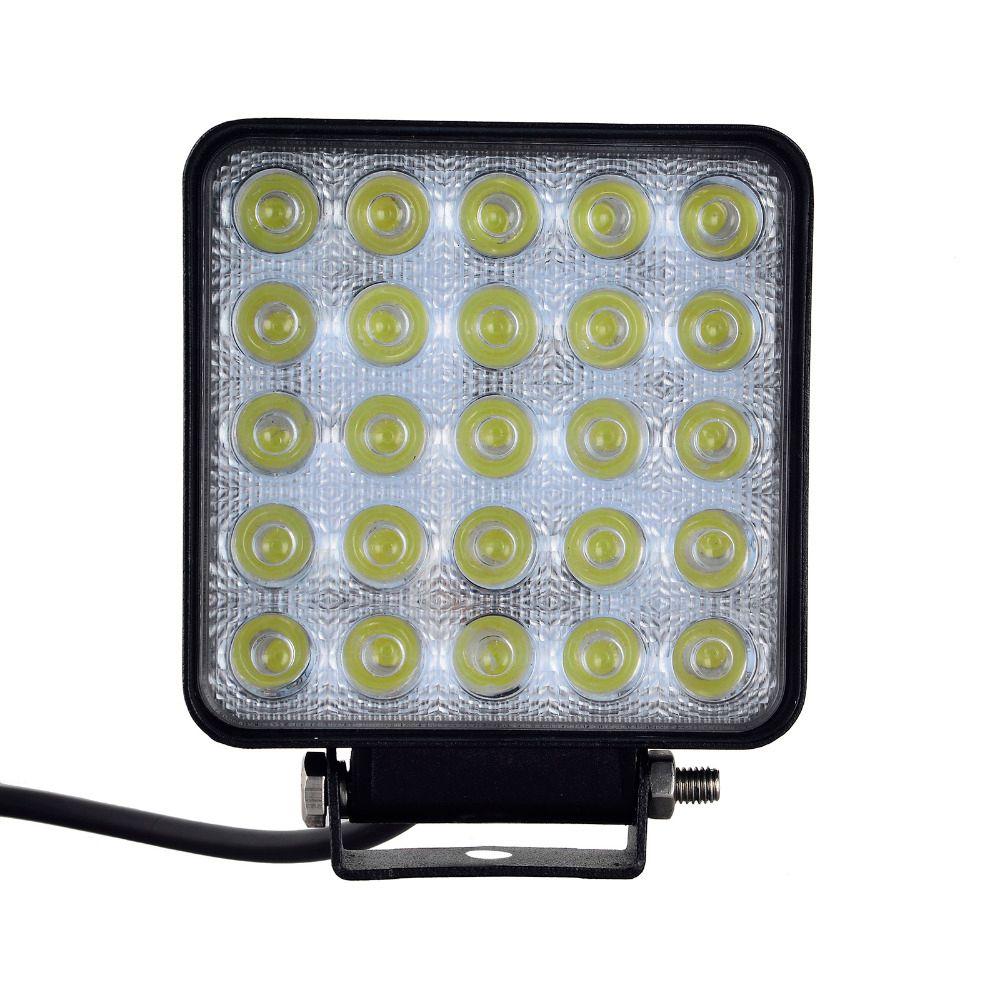 10 pièces 75 W 25x3 W 7500 LM Voiture 12-24 V lumière LED Bar LED lumière de Travail D'inondation de Tache Lumineuse LED voiture pour la Navigation de Plaisance Chasse Pêche