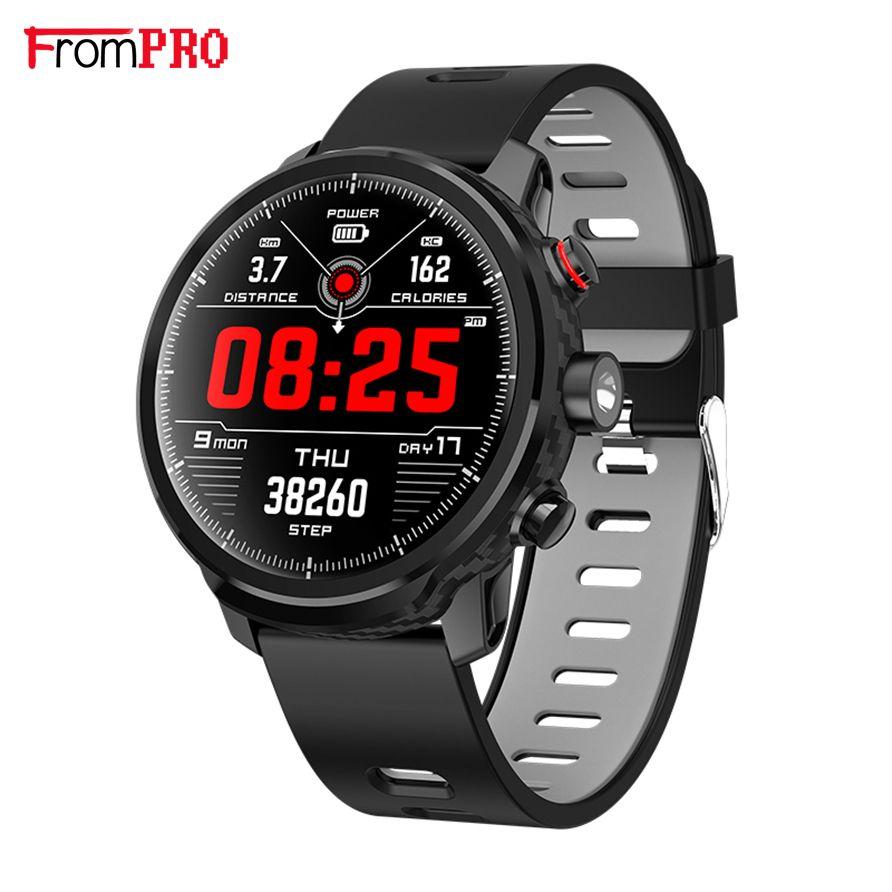 2019 L5 Smart Uhr Männer IP68 Wasserdicht Mehrere Sport Modus Herz Rate Wetter Prognose Bluetooth Smartwatch Standby 100 Tage
