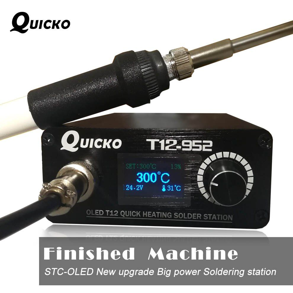 Quick Heating T12 soldering station electronic welding iron 2019 New version STC T12 OLED Digital Soldering Iron T12-952 QUICKO