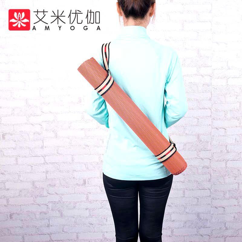 Tapis de yoga de voyage en caoutchouc naturel résistant anti-glissement d'épaisseur de 2mm avec le sac de transport