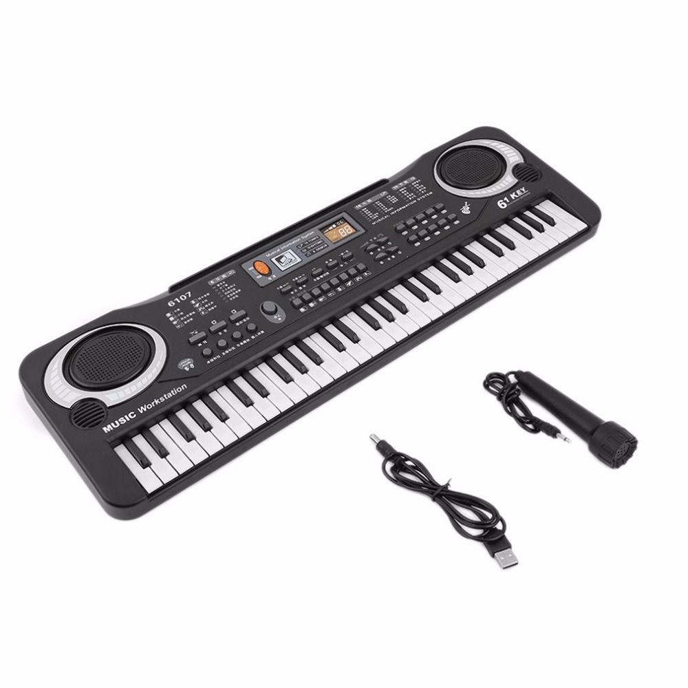 61 Keys Digital Music Electronic Keyboard Key Board <font><b>Gift</b></font> Electric Piano <font><b>Gift</b></font> new arrival