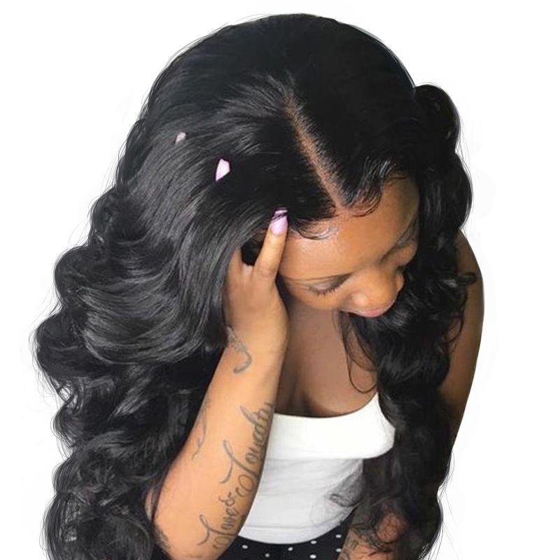 360 Lace Frontal Wig Brazilian Body Wave Lace Front Human Hair Wigs For Women Pre Plucked 180&150 Density Full End Virgin Venvee
