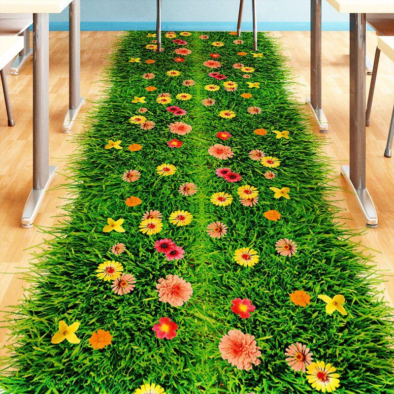 [SHIJUEHEZI] Vert Pelouse 3D autocollant de plancher Vinyle bricolage Herbe décoration d'intérieur Autocollant pour Chambres D'enfants Bébé Chambre Maternelle Décoration