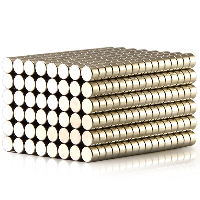 100 pcs Disque 5x3mm n50 Rare Earth Permanent Forte Néodyme Aimant Aimants En Vrac Nickel 5x3