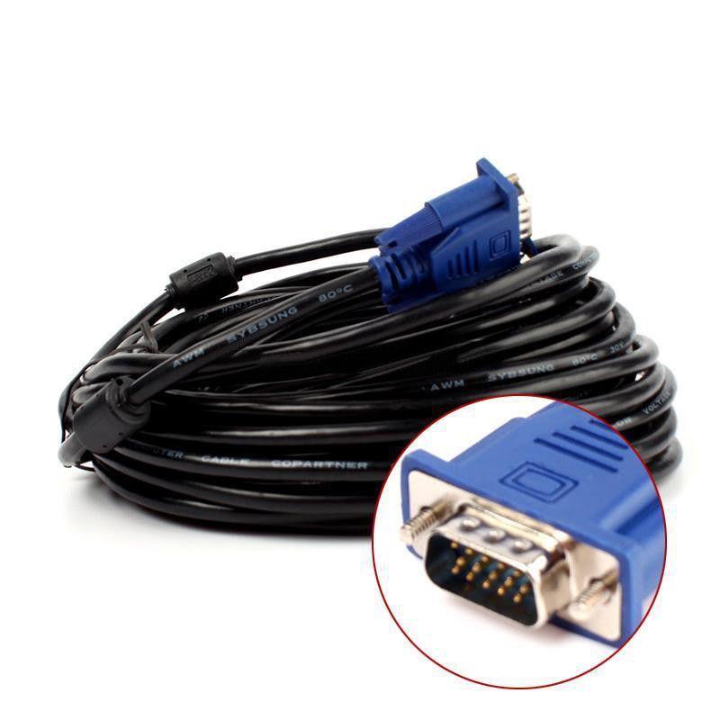 Onsale 5 m/10 m VGA/SVGA Câble Haute Qualité HD 15 Broches VGA Mâle à Mâle Extension câbles Soutient PC Portable Moniteur Mayitr