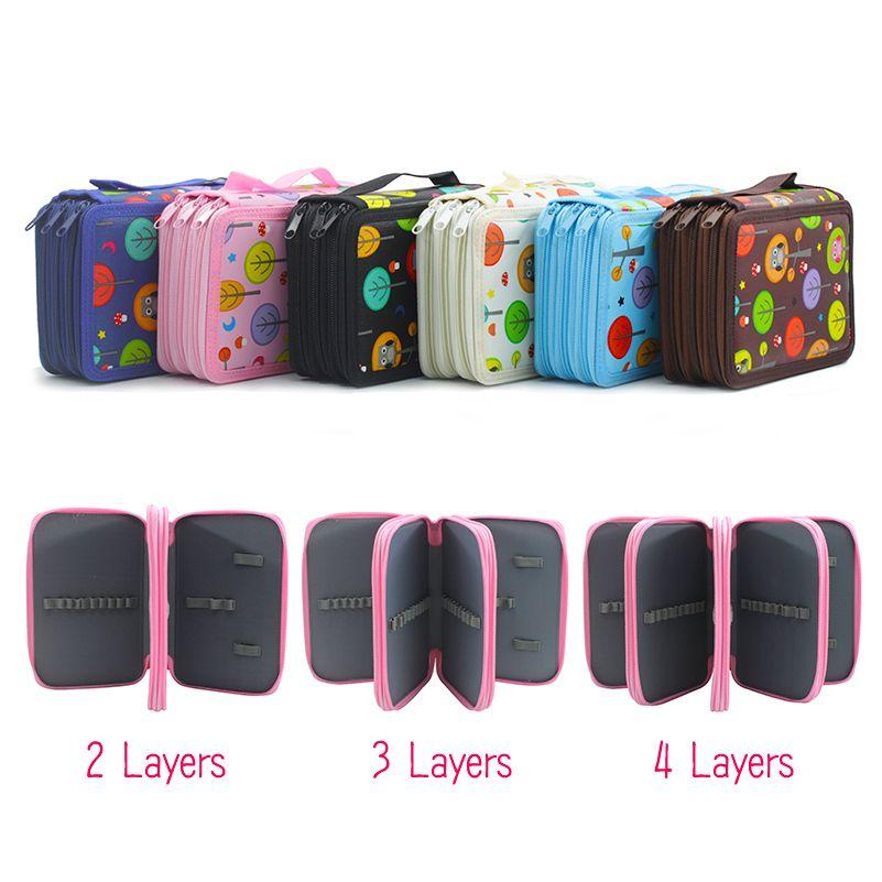 Kawaii Cute Pencil Case Kids 2 3 4 Layers Big Capacity Estojo Escolar School Pencil Bag Potlood Tas Estuches Stationery Box