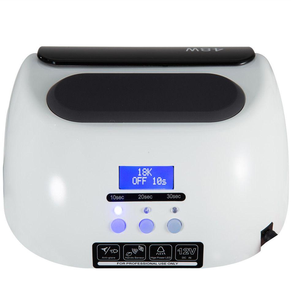 18K 48W LED UV Lamp Nail With LCD Display Screen Professional Nail Dryer Curing UV LED Gel Nail Tools Automatic sensor