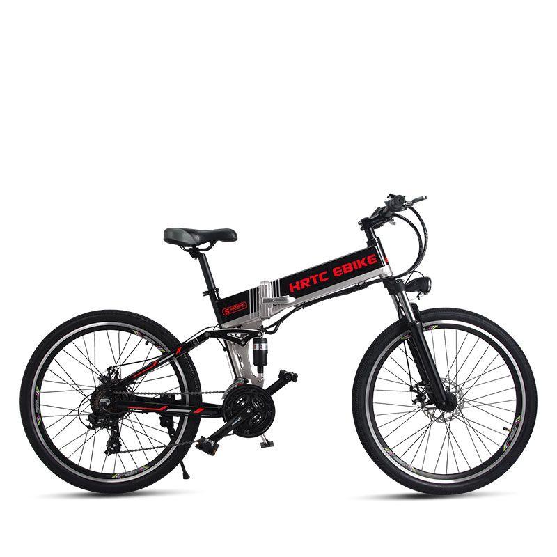 26 zoll elektrische mountainbike 500 W hohe geschwindigkeit 40 km/h falten elektrische fahrrad 48 v lithium-batterie versteckte rahmen EMTB off-road ebike