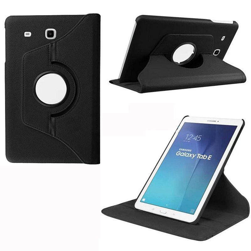 PU Cuir Smart Cover Tablet Cas Pour Samsung Galaxy Tab E 9.6 SM T560 T561 360 Rotation Flip Cas Avec Support Fonction funda