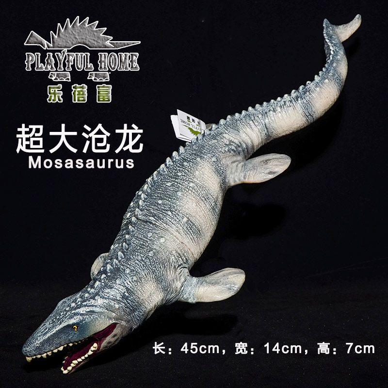 Горячие Игрушки: Mosasaurus Динозавров Модель Рука Краска Мягкого ПВХ Животных Действие и Игрушки Фигурки Для Детей Раннего Образования