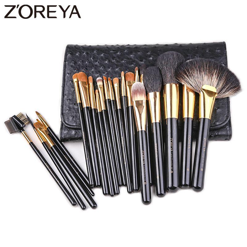 ZOREYA Marke 24 stücke Professionelle Make-Up Pinsel Hohe Qualität Synthetische Haar Make-Up Pinsel Set Pulver Concealer Kosmetische Werkzeuge