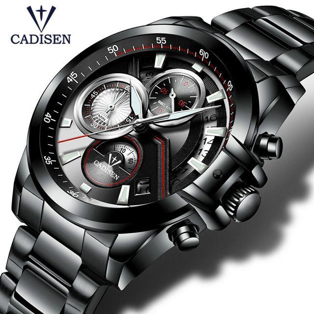 2017 Herrenuhr CADISEN Top-marke Luxus Casual Militär Sport Armbanduhr Armband Voller Stahl Männlich Clock Relogio Masculino