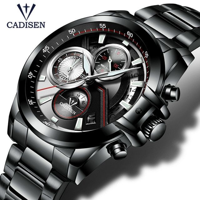 2017 Men's Watch CADISEN Top Brand Luxury Casual Military Sport Wristwatch Men Bracelet Full Steel Male Clock Relogio Masculino