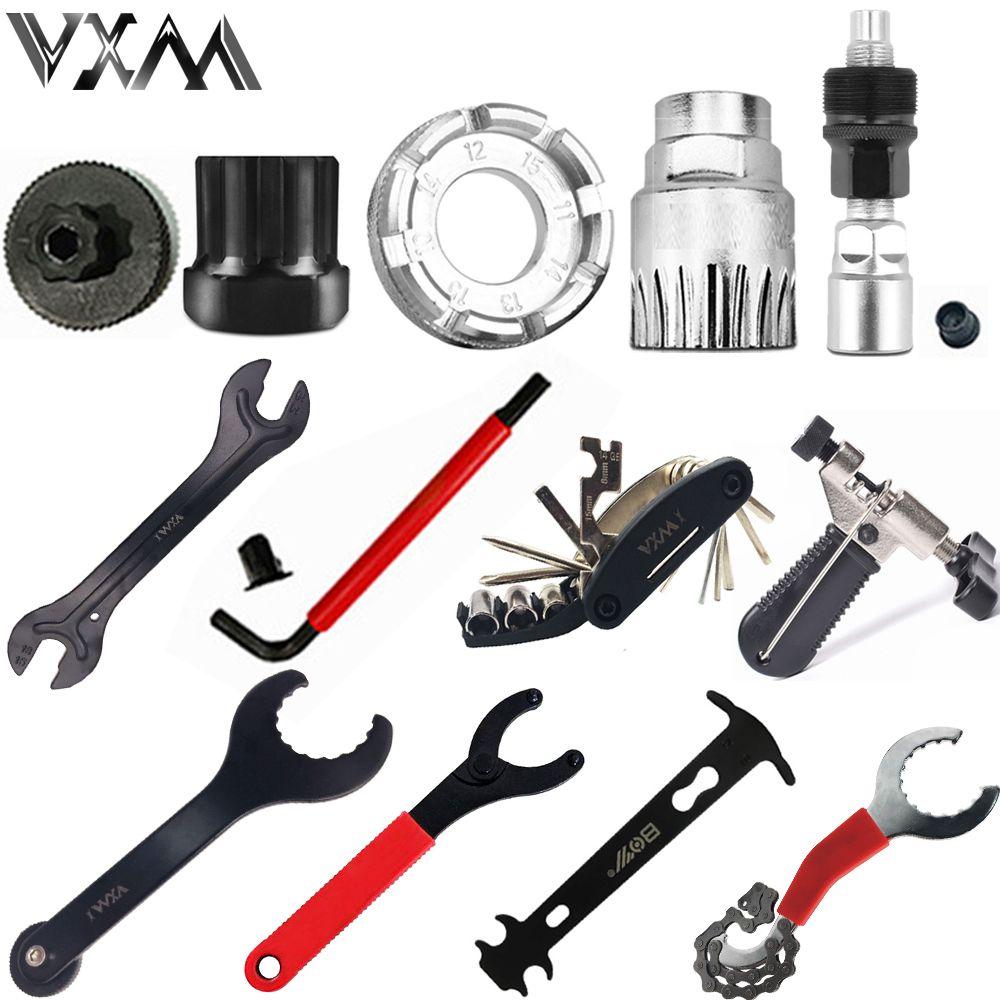 VXM Bicycle repair tool Kits flywheel remover socket bottom bracket removing socket tool chain cutter crank removing tools