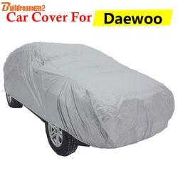 Penutup Mobil Untuk Daewoo Espero Kalos Lacetti Lanos Leganza Buildreamen2 Sun Naungan Salju Hujan Awal Debu Penutup Perlindungan Anti-UV