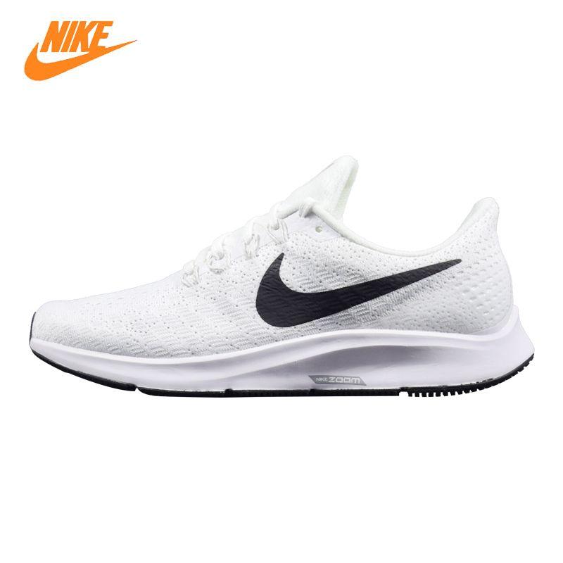 Nike Air Zoom Pegasus 35 Männer Laufschuhe, Weiß & Schwarz, leichte Atmungsaktive Nicht-rutsch Verschleiß-beständig AO3939 100