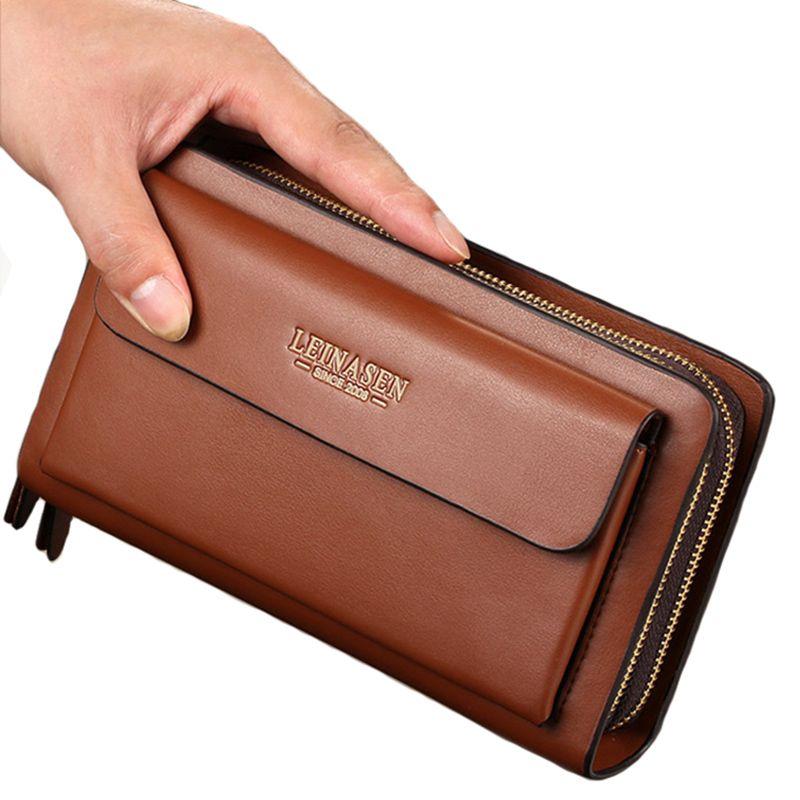 Nouvelle Entreprise portefeuille Poche à Monnaie bourse longue en cuir portefeuille de Grande capacité de mode portefeuilles Titulaire de la Carte D'embrayage Passeport sacs à main