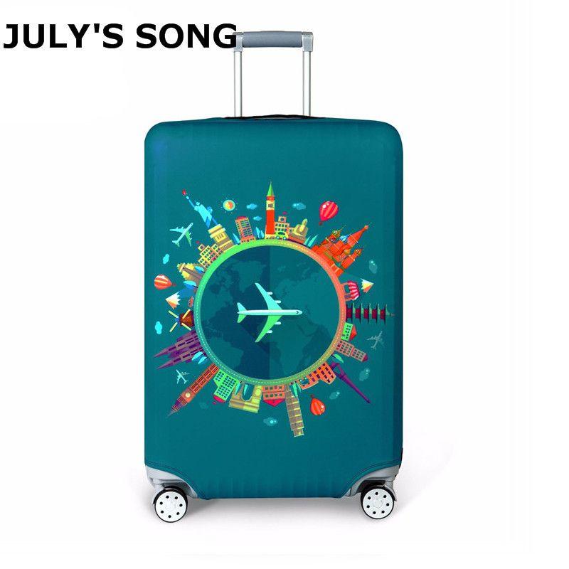 Housse de protection pour valise de voyage plus épaisse fixation rétractable et mécanisme d'attache de sécurité accessoires de voyage housse de protection élastique pour bagages s'applique à la valise 18 ''-32''