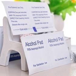 100 piezas desechables portátiles almohadillas de Alcohol toallitas esterilización uñas limpieza Primeros Auxilios antiséptico limpiador limpieza Sterili