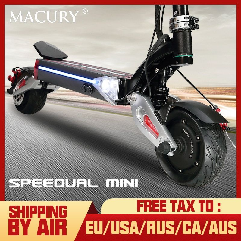 Macury Speedual Mini 8 zoll dual motor elektrische roller 52V1600W off-road 55 km/h doppel stick 8 zoll solide reifen zero8x null 8X