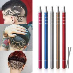 1 Pcs Coiffure Gravé Stylo + 10 Pcs Lames Professionnel Tondeuses Cheveux Styling Sourcils Rasage Salon DIY Coiffure Accessoire