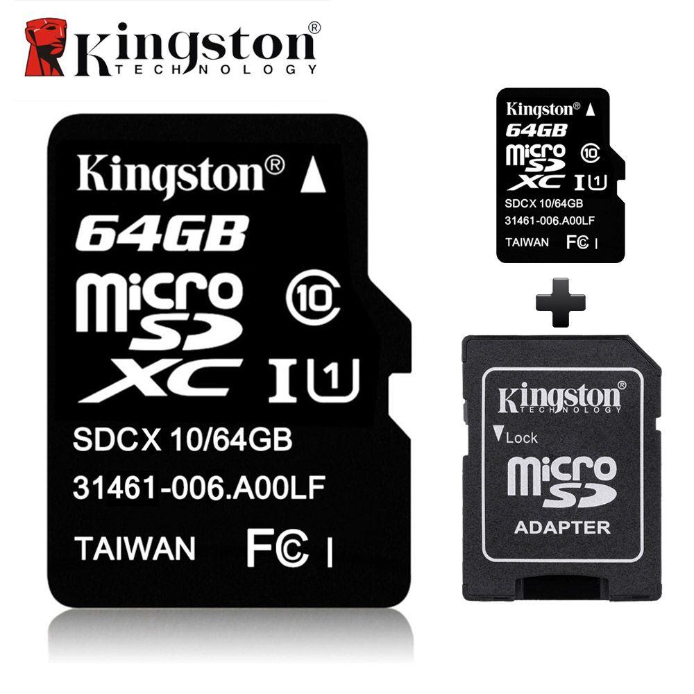 Kingston Micro SD Carte 16 GB 32 gb 64 GB 8 GB Classe 10 Mémoire Flash Carte Microsd Tarjeta Flash TF SDHC SDXC Carte pour Appareil Photo Tablet