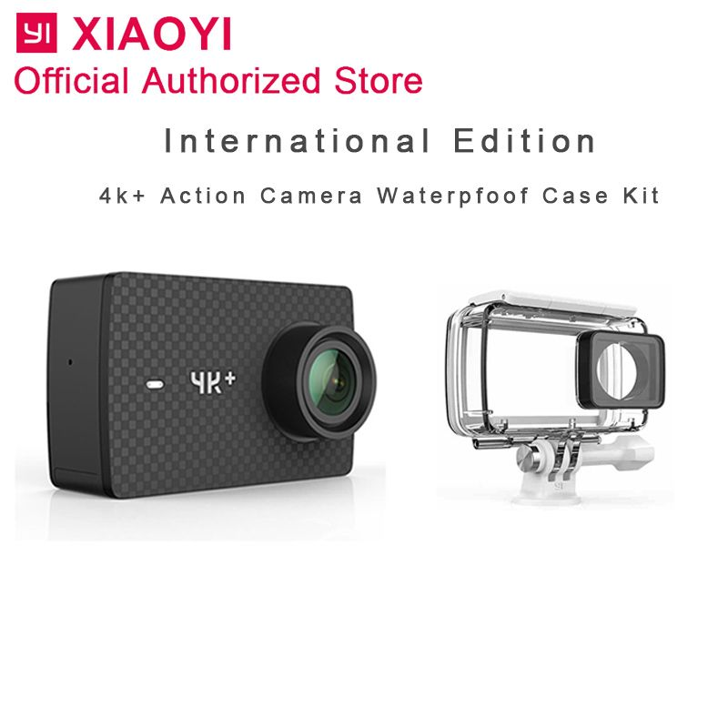 Internationalen Xiaomi Yi 4 k Plus Action Kamera Sport Cam Outdoor Kamera Bildschirm Wifi Bluetooth Wasserdichte Touchscreen Camaras APP