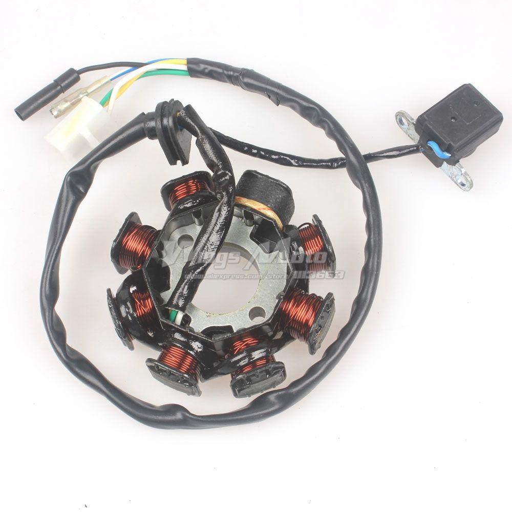 Estator de encendido magneto 8 bobina 5 cables GY6 50CC 60CC 80CC ATV scooter
