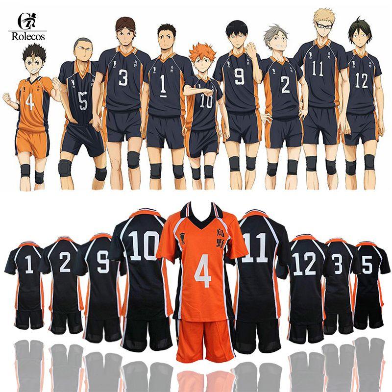 ROLECOS Haikyuu Costume Cosplay Karasuno lycée volley Club Hinata Shyouyou vêtements de sport maillots uniforme