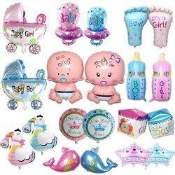 1 piezas mini Ángel Bebé globo baby shower cochecito de bebé del globo de la hoja juguetes para Recién Nacido aire de la decoración del partido globos