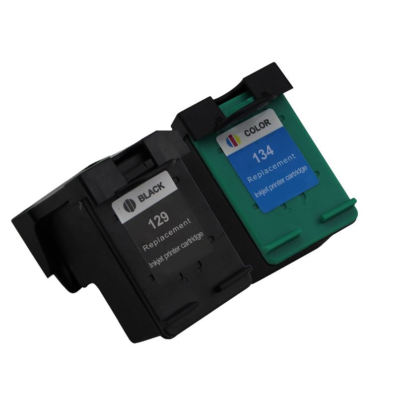 2PK Compatible ink cartridge HP129 HP134 for HP Deskjet 100/6213/h470/6943/6983/5943/D4163 Photosmart 7313/8053/8753/2573/D5063